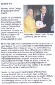 Receiving Community Service Award